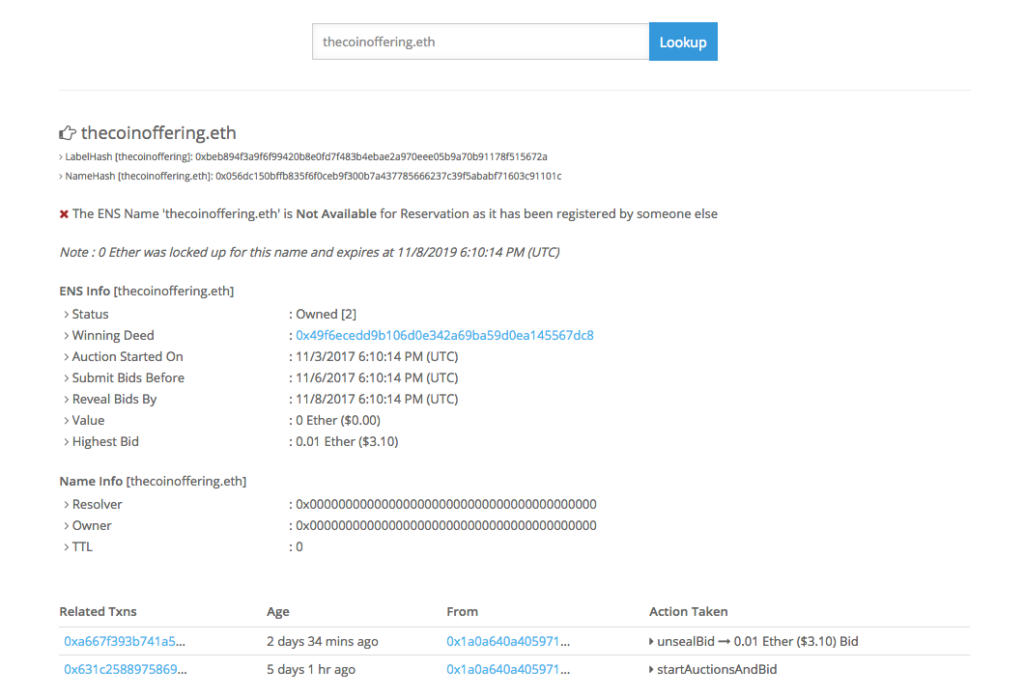 EtherScan Ready to Finalize
